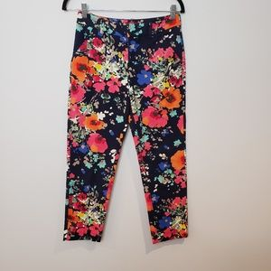 Merona Floral fit Coupe Stretch Pant Size 2